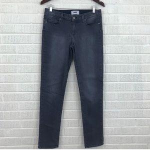 Paige Skyline Skinny Jeans in Granite Gray - Sz 29